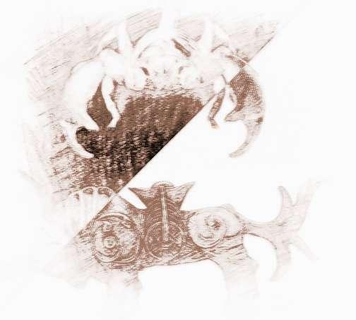 星座动物黑白图片