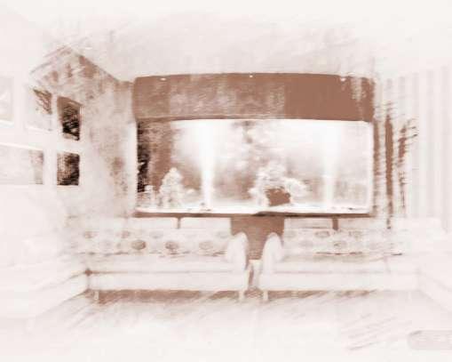 金鱼缸在方形的摆放cad客厅命令中正图片