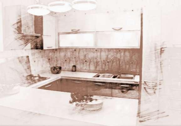 如果将厨房的一角当成临时的用餐区