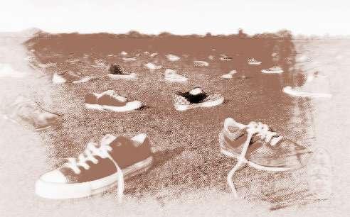鞋子树矢量图素材高清