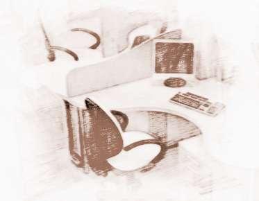 办公桌的物品摆设