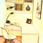 书桌背后靠墙 书桌应该如何摆放