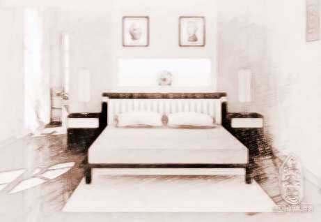 床铺大多用木制作,北方农村用砖砌炕