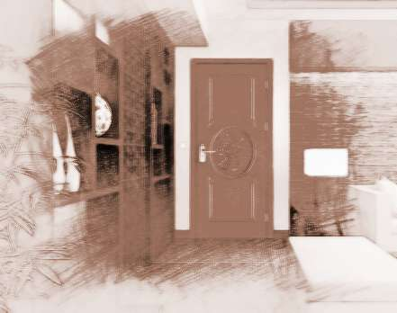 欧式风格卧室门: 欧式风格的家居能够表现出富丽
