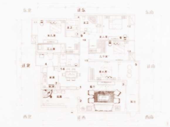 房屋风水八卦方位图