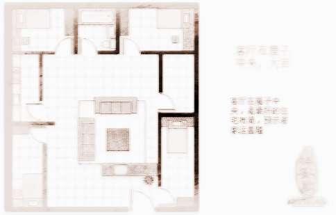 居家风水图解,尤其是房屋缺角的影响很大,例如坤方缺少的房宅在农村与