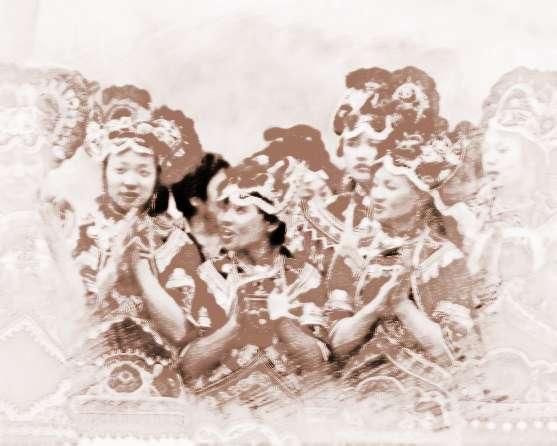 """在云南省双柏县小麦地冲的彝族人过年时有着""""跳虎节""""的特殊风俗,正月初八,全村成年男子集于村后土地庙遗址,杀狗献""""咪司""""(""""咪""""意土,""""司""""意主人,迷司即为土主神之意),随后由本村""""毕摩""""祭土主请虎神。8位村民化装成老虎翩翩起舞,""""老虎们""""两耳高耸,尾巴粗壮,浑身虎纹,额上绘一汉字""""王"""",颈上挂一个大铜铃,威风凛凛。""""毕摩&rdq"""