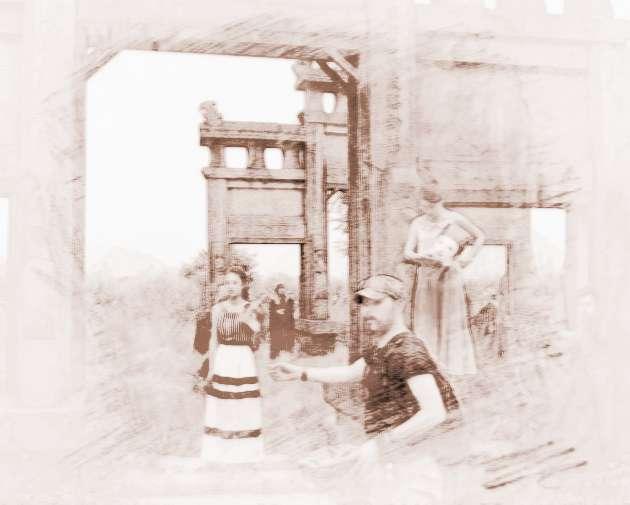 环江傩面具手绘图片