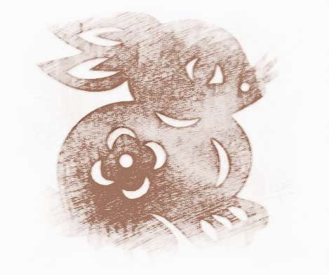 剪纸兔子的剪法步骤图解