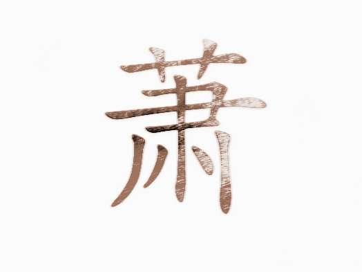 [中国姓氏起源]萧的姓氏起源