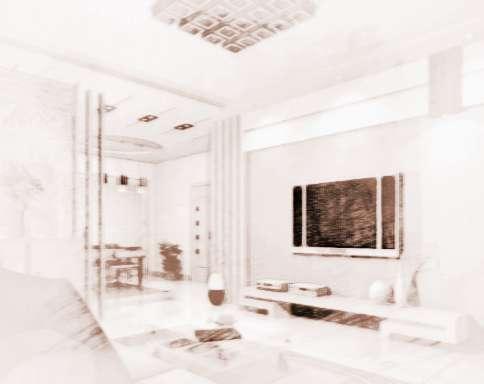 不过根据客厅相对整个住宅的方位选择正确的颜色,可有风水加分的效果.