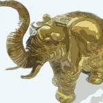 家里铜大象如何摆放好