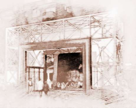 店铺大门风水是最重要的关键因素之一; 商铺门效果图; 在店铺大门的