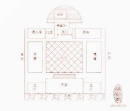 房屋格局平面图手绘
