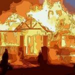 夢見大火燒房自己困在中間