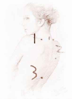 手绘女人背