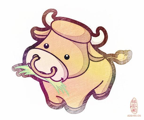 生肖牛可爱卡通图片