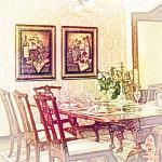 餐厅植物摆放龙8国际官方网站