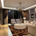 客厅窗帘面料色彩风水