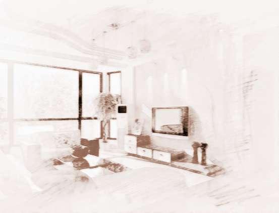 有鱼缸的客厅效果图