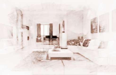 客厅欧式沙发和烤漆橱柜设计图