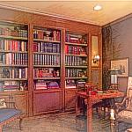 书房的必发365手机登录摆设
