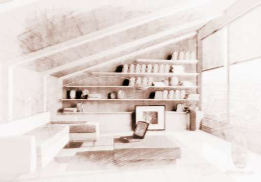 新房装修设计书房应该注意的风水禁忌   一般来说,将书桌对着门放置