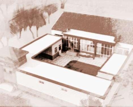 手绘画形容房屋形状