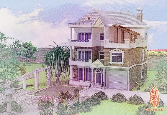 农村自建房围墙门口设计效果图