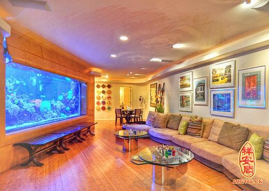 客厅鱼缸摆放风水图