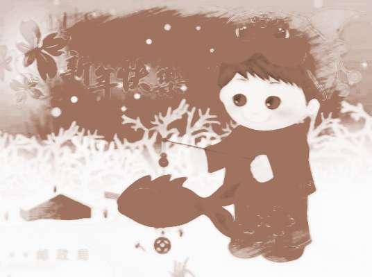 写春联卡通羊图片