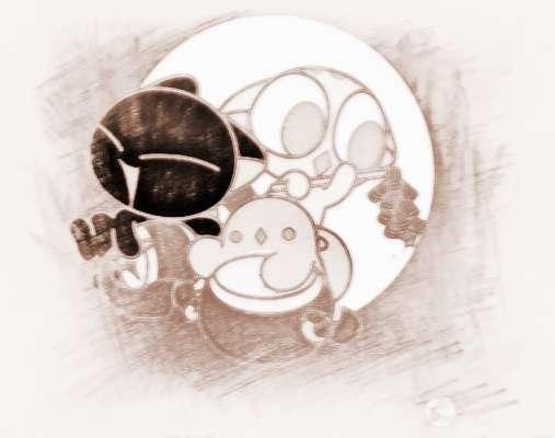卡通可爱喝醉表情